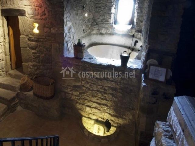 Tinas De Baño Rusticas:El Mas de Castelltallat en Castelltallat (Barcelona)