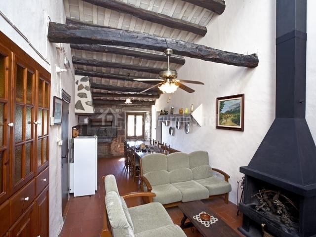 Baños Romanos Girona:Vistas de la sala de estar y la chimenea