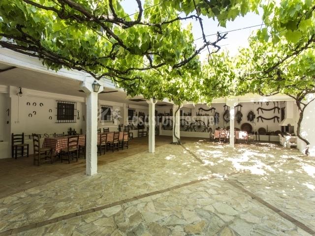 Casa del pastor antiguo cortijo de montero en campillos - Porches con barbacoa ...