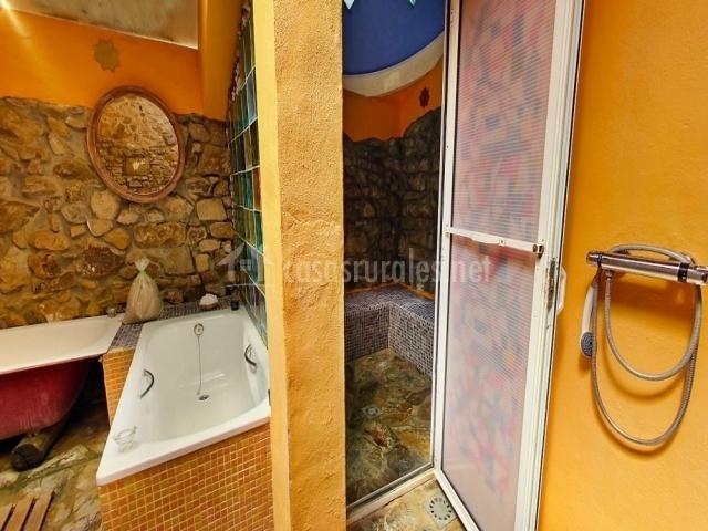 Baño Turco Para Casa:barbacoa de fuera terraza con hamaca entrada de recepción habitación