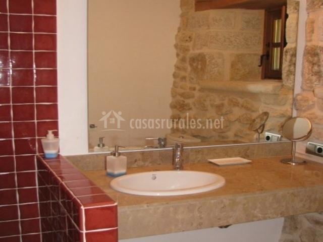 Baldosas Baño Saloni:Baño con baldosas rojas