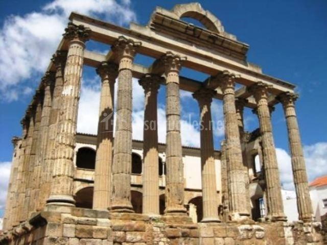 Baños Romanos Merida: desde el castillo teatro romano de mérida templo romano de mérida