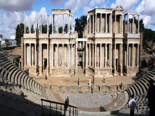 Baños Romanos Badajoz:templo de diana alcazaba de badajoz badajoz