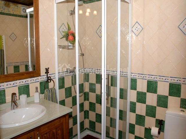 bao con ducha bajo de acceso a buhardilla con barbacoa con granja catedral bao con ducha bajo escalera