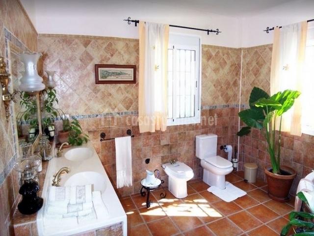 Baño Relajante Jacuzzi:Casa de los Cerezos en Antequera (Málaga)
