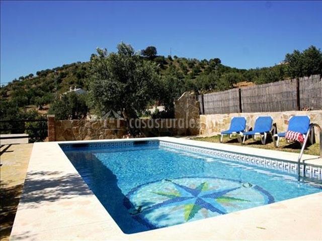 Casa los olivos en alora m laga for Hamacas de piscina