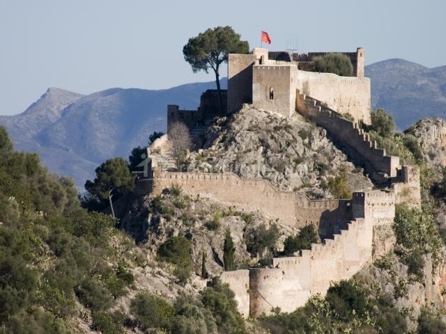 Muebles De Baño Xativa: fachada principal de la cas arural casa rural castillo de xàtiva