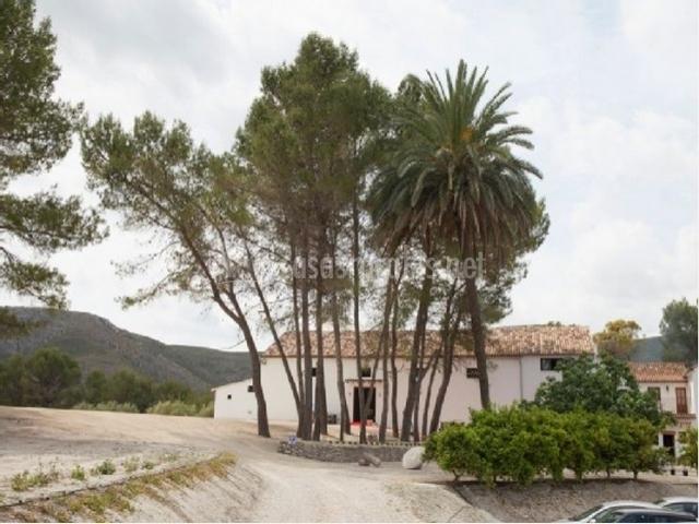 Muebles De Baño Xativa:fachada principal de la cas arural casa rural castillo de