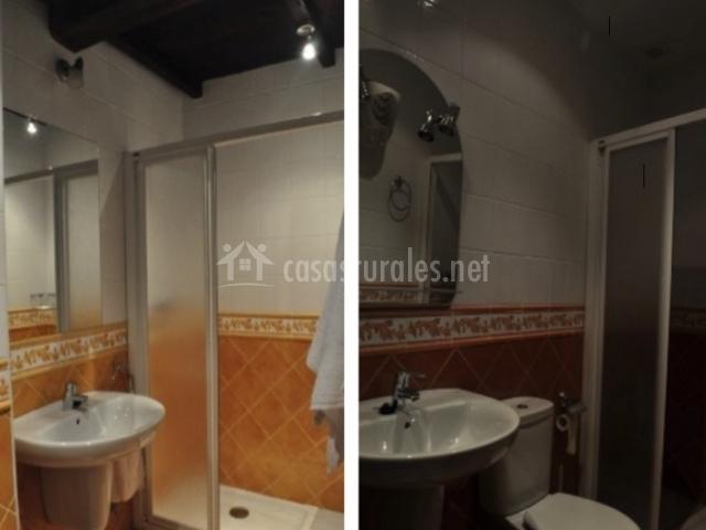 Baños Con Ducha Separada:El LLombo de Pendia en Miñagon (Asturias)