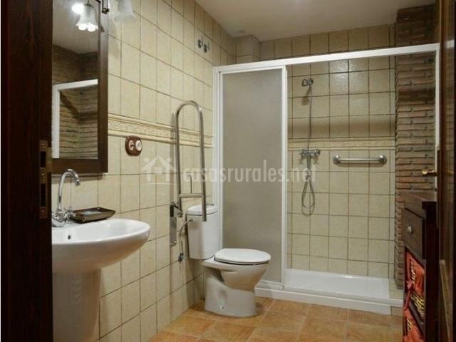 Caracteristicas Baño Adaptado:baño con ducha baño con columna eléctrica mueble del lavabo