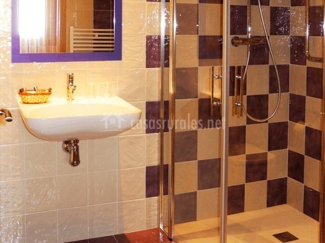Barras Baño Adaptado:Baño adaptado con ducha a ras del suelo